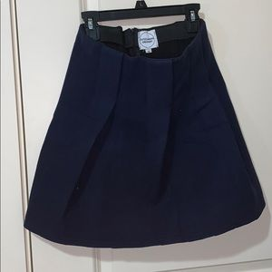 Navy blue thick skirt